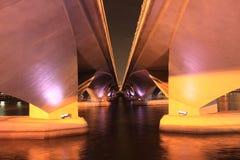 Singapur-Brücke croos nach Mariana bellen in der Nachtzeit Lizenzfreie Stockbilder