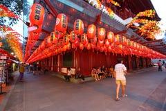 Singapur: Buddha Toothe relikwii świątynia obrazy stock