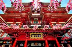 Singapur, Buddha zębu relikwii muzeum - i świątynia Obrazy Stock