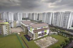 Singapur budynek mieszkalny i szkoła państwowa Fotografia Royalty Free