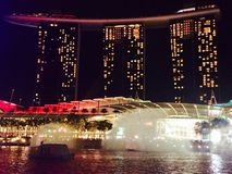 Singapur budynku przedstawienie Obrazy Royalty Free