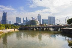 Singapur bulwar Esplanada teatr Zdjęcie Royalty Free