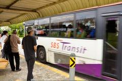 Singapur-Bushaltestelle/Schutz Stockfoto