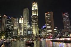 Singapur CBD i Łódkowaty Quay Fotografia Royalty Free