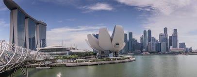 Singapur CBD z linia horyzontu pejzażem miejskim Obrazy Stock