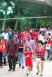 Singapur celebra el día nacional SG50 Imágenes de archivo libres de regalías