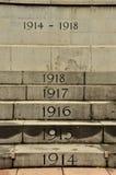 Singapur Cenotaph coroczni kroki dla wojny światowa Jeden Fotografia Stock