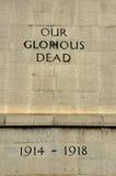 Singapur Cenotaph wojna światowa Jeden Nasz Chwalebnie nieboszczyk Fotografia Royalty Free