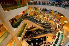 Singapur: Centro comercial de la ciudad de las rifas Fotografía de archivo libre de regalías
