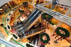 Singapur: Centro comercial de la ciudad de las rifas Fotografía de archivo