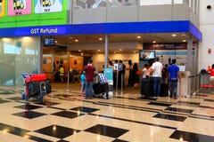 Singapur: Changi lotniska międzynarodowego T3 zdjęcia stock