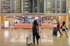 Singapur Changi Lotniskowego Terminal 2 odjazdu sala Fotografia Royalty Free