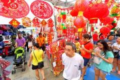 Singapur: Compras lunares chinas del Año Nuevo Fotos de archivo