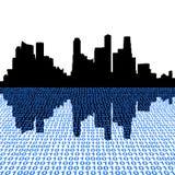 Singapur con código binario Fotografía de archivo