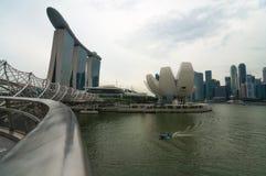Singapur, Czerwiec - 13,2014: Marina Podpalani piaski Hotelowi Jeden mo Zdjęcia Stock