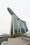 Singapur, Czerwiec - 13,2014: Marina Podpalani piaski Hotelowi Jeden mo Zdjęcie Royalty Free