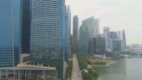 Singapur, Czerwiec -, 2018: Marina zatoki centrum finansowe w Singapur strzał Ja jest składać się z trzy dwa, biuro góruje obrazy stock