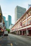SINGAPUR, CZERWIEC - 22, 2016: Sklepowy dom w Singapur Zdjęcie Stock