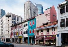 SINGAPUR, CZERWIEC - 22, 2016: Sklepowy dom w Singapur Zdjęcia Royalty Free