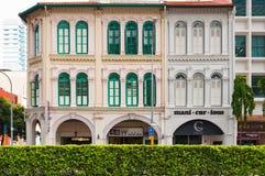 SINGAPUR, CZERWIEC - 22, 2016: Sklepowy dom w Singapur Fotografia Stock