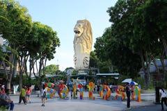 SINGAPUR, CZERWIEC - 21, 2014: Universal Studio Singapur są one Obrazy Stock