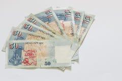 Singapur 50 dólares de billete de banco Imagen de archivo libre de regalías
