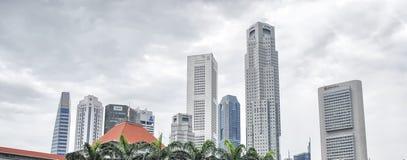 SINGAPUR - 27 DE AGOSTO: El horizonte de Singapur el 27 de agosto de 2009 en canta Foto de archivo libre de regalías