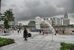 SINGAPUR - 27 DE AGOSTO: El horizonte de Singapur el 27 de agosto de 2009 en canta Imagenes de archivo