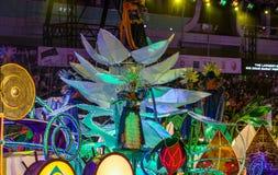 SINGAPUR - 3 DE FEBRERO: Festival 2012 de Chingay en Singapur en F Fotografía de archivo libre de regalías