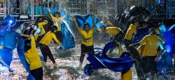 SINGAPUR - 3 DE FEBRERO: Festival 2012 de Chingay en Singapur en F Imágenes de archivo libres de regalías
