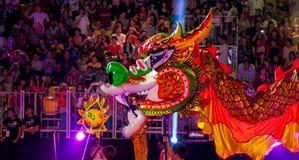 SINGAPUR - 3 DE FEBRERO: Festival 2012 de Chingay en Singapur en F Foto de archivo libre de regalías