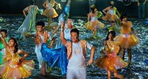 SINGAPUR - 3 DE FEBRERO: Festival 2012 de Chingay en Singapur en F Fotos de archivo