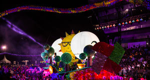SINGAPUR - 3 DE FEBRERO: Festival 2012 de Chingay en Singapur en F Fotografía de archivo
