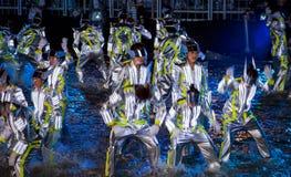 SINGAPUR - 3 DE FEBRERO: Festival 2012 de Chingay en Singapur en F Imagen de archivo