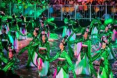 SINGAPUR - 3 DE FEBRERO: Festival 2012 de Chingay en Singapur en F Fotos de archivo libres de regalías