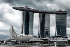 SINGAPUR - 3 DE FEBRERO: Vista del hotel de Skypark en Singapur Fotos de archivo