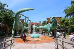 SINGAPUR - 21 DE JUNIO DE 2014: Los estudios universales Singapur son ellos Foto de archivo libre de regalías