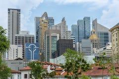 Singapur - 10 de junio de 2018: Horizonte de oro foto de archivo