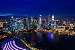 SINGAPUR - 22 DE NOVIEMBRE DE 2016: Marina Bay Sands Resort Hotel en N Fotografía de archivo libre de regalías