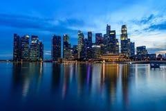 SINGAPUR - 24 DE NOVIEMBRE DE 2016: Paisaje urbano céntrico de Singa Fotografía de archivo