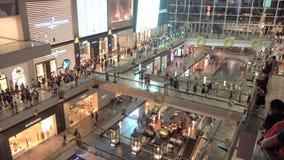 Singapur - 3 de noviembre de 2016: Visitantes en la alameda de compras Marina Bay Sands metrajes