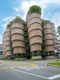 SINGAPUR - 24 DE NOVIEMBRE DE 2018: La colmena en la universidad tecnológica NTU de Nanyang El edificio fue concedido a Mark Plat foto de archivo libre de regalías