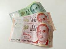 Singapur dolarów nowe notatki Zdjęcia Royalty Free