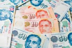 Singapur dolar, banknot Singapur na Białym tle Obraz Stock