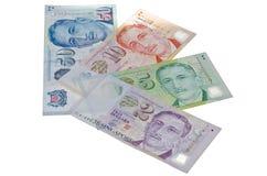 Singapur dolarowi rachunki Zdjęcia Royalty Free