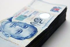 Singapur-Dollar Stockfoto