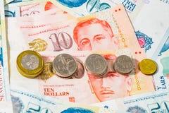 Eine Dollar Singapur Münze Stock Abbildung Illustration Von Ikone