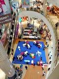Singapur: Droga wodna punktu centrum handlowe obraz royalty free