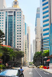 Singapur drogi scena Zdjęcie Royalty Free