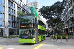 Singapur dwoistego decker autobus zdjęcia royalty free